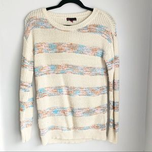 Sweaters - Cream Sweater with Stripes
